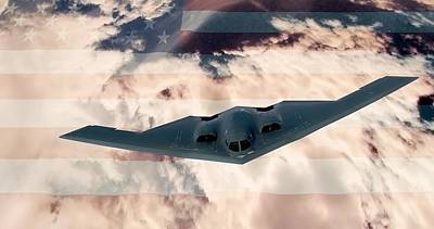 B-2  Respect Print by Kevin  Sherf