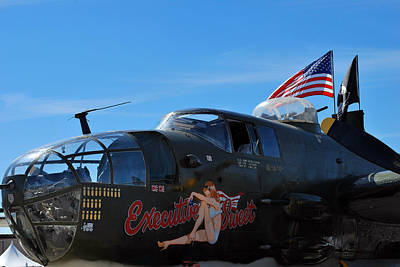 Noseart Photograph - Executive Sweet, B-25  by Paul Ker