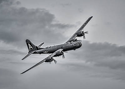 Digital Art - B-29 Superfortress by Douglas Pittman