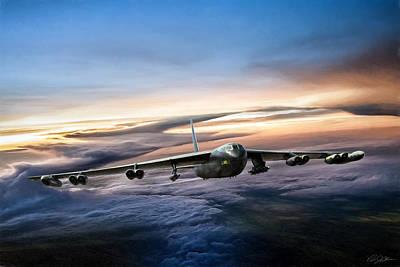 Haze Digital Art - B-52 Inbound by Peter Chilelli