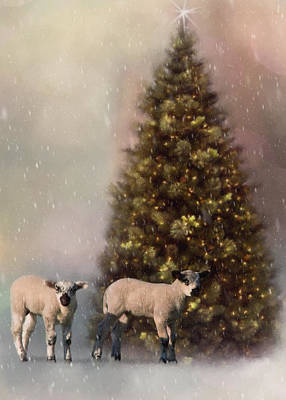 Wildlife Celebration Painting - Baa Humbug - Seasonal Art by Jordan Blackstone