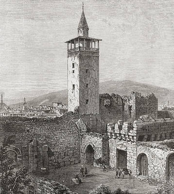 Bible Drawing - Bab Sharqi, The Eastern Gate, Damascus by Vintage Design Pics