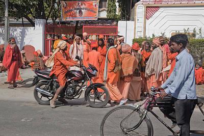 India Babas Photograph - Baba Street Scene by John Battaglino