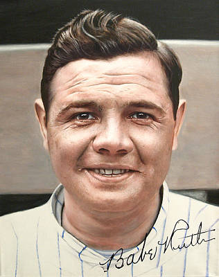 Babe Ruth 1920 New York Yankees Debut Original by Agustin Iglesias