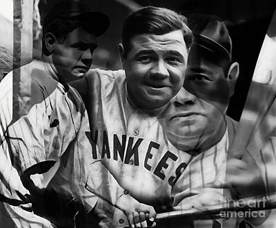 Babe Ruth Mixed Media - Babe Ruth Collection by Marvin Blaine