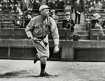 Boston Red Sox Photograph - Babe Ruth - Pitcher Boston Red Sox  1915 by Daniel Hagerman