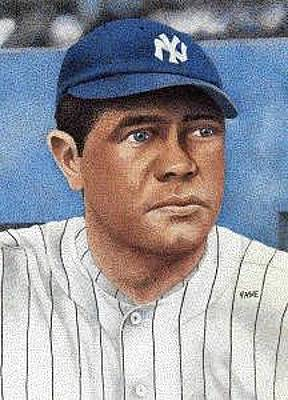 Babe Ruth Drawing - Babe Ruth by Rob Payne