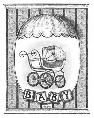 Paper Images Drawing - Baby Carriage by Adam Zebediah Joseph