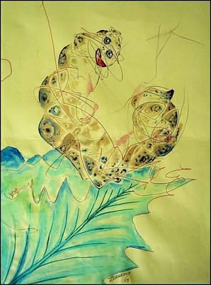 Baby Caterpillar Print by Paulo Zerbato