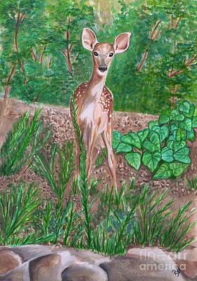 Baby Deer Original by Patty Vicknair