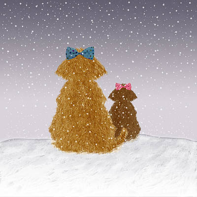 Baby It's Cold Outside Print by Brigitte Carre