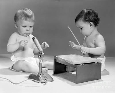Baby Musicians, C. 1960s Print by H. Armstrong Roberts/ClassicStock