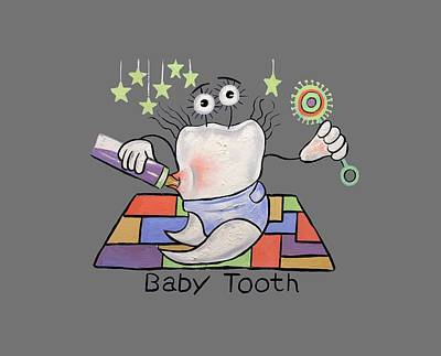 Baby Tooth T-shirt Print by Anthony Falbo