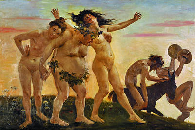 Lovis Corinth Painting - Baccants Returning Home by Lovis Corinth