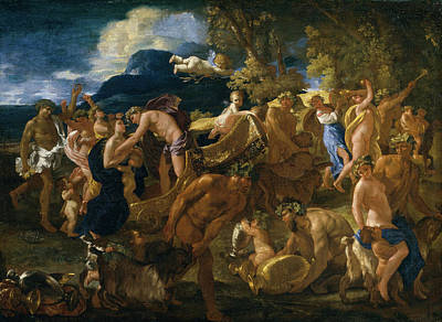 Angel Painting - Bacchanal by Nicolas Poussin