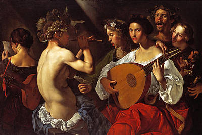 Pietro Paolini Painting - Bacchic Concert by Pietro Paolini