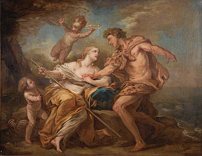 Charles-andre Van Loo Painting - Bacchus And Ariadne by Charles-Andre van Loo