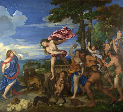 Greek Mythology Painting - Bacchus And Ariadne by Titian