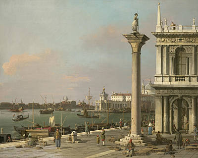 Italian Landscape Painting - Bacino Di S. Marco - From The Piazzetta by Canaletto