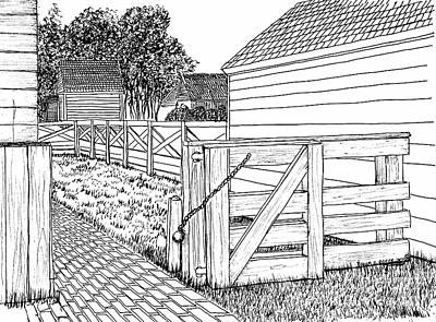 Back Gate To Garden And Pasture Print by Dawn Boyer