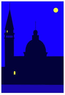 Digital Art - Back Piazza San Marco Venice by Asbjorn Lonvig