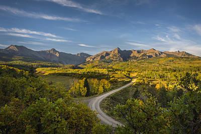 San Juan Mountain Range Photograph - Back Road In Colorado by Jon Glaser