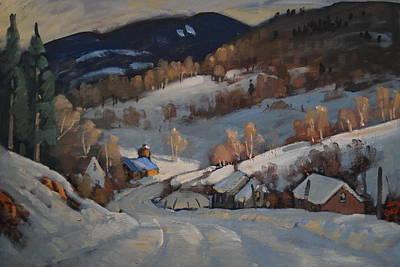 Back Road Vermont Original by Len Stomski