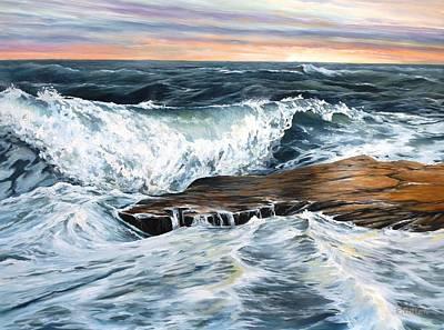 Back Shore Sunrise Original by Eileen Patten Oliver