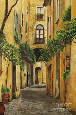 Italian Street Painting - Back Street In Italy by Charlotte Blanchard