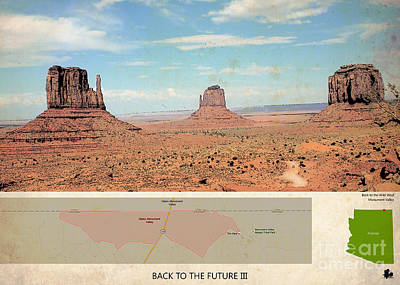 Back To The Future 3 Location, Doc Brown Western Print by Pablo Franchi