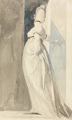 Back View Of A Standing Female Called Mrs. Fuseli Print by Henry Fuseli