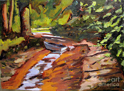Back Water Fishing Framed Plein Air Original by Charlie Spear