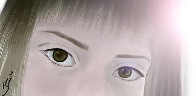 Backlight Selfie Of The Eyes Print by Julia Jordan