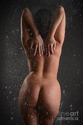 Washing Hair Photograph - Backside Through The Glass by Jt PhotoDesign