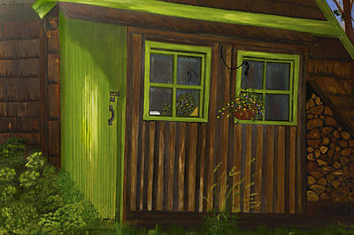 Dee Painting - Backyard Studio by Dee Browning