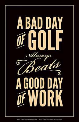 Digital Art - Bad Day Of Golf by Mark Kingsley Brown