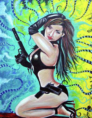 Bad Girl Print by Ottoniel Lima