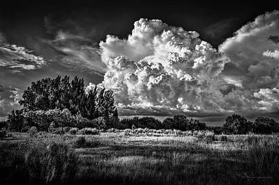 Thunderhead Photograph - Bad Weather B/w by Marvin Spates