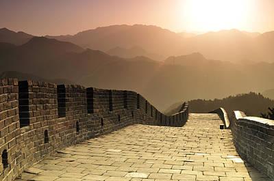 Badaling Great Wall, Beijing Print by Huang Xin