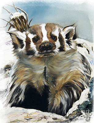 Indigenous Painting - Badger - Guardian Of The South by J W Baker