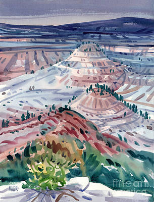 Badlands Painting - Badlands Of South Dakota by Donald Maier