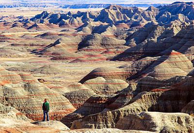 Ledge Photograph - Badlands, South Dakota by Todd Klassy