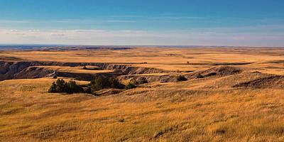 South Dakota Photograph - Badlands Vi Panoramic by Tom Mc Nemar