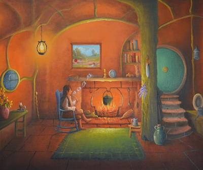 Tolkien Painting - Bag End In A Hole In The Ground by Joe Gilronan