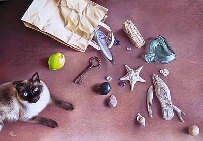 Bag Of Treasures Print by Elena Kolotusha