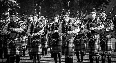 Bagpipe Band - Scottish Festival And Highland Games Print by Gary Whitton