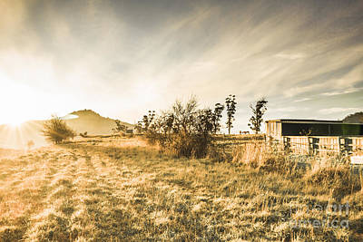 Bahn Photograph - Bagdad Crisp Winter Countryside by Jorgo Photography - Wall Art Gallery