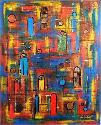 Baghdad City Painting - Baghdad, War And Peace by Siran Ajil