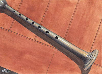 Bagpipes Painting - Bagpipe Chanter by Ken Powers