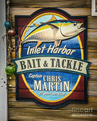 Bait And Tackle Print by Perry Webster
